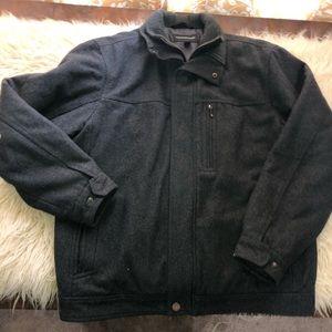 Grey LONDON FOG wool jacket men's L